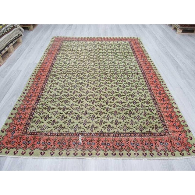 "Traditional Vintage Turkish Area Rug - 6'9"" X 9'8"" For Sale - Image 3 of 6"