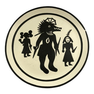 Native American Acoma Pottery Plate