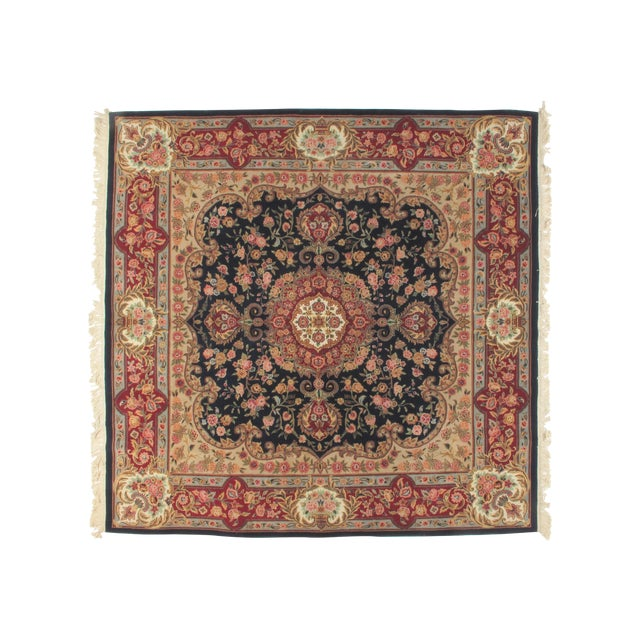 Square Sino Persian Carpet - 8′ × 8′1″ - Image 1 of 8