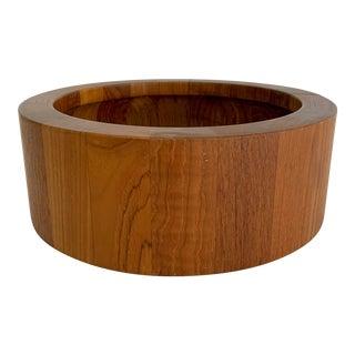 Vintage Mid Century Modern Dansk Staved Teak Wood Bowl by Jens Quistgaard For Sale