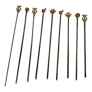 20th Century Traditional Style Skewers - Set of 9 For Sale