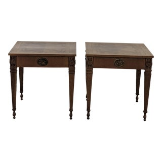 20th CenturyTraditional Baker Furniture Lamp End Tables - a Pair For Sale