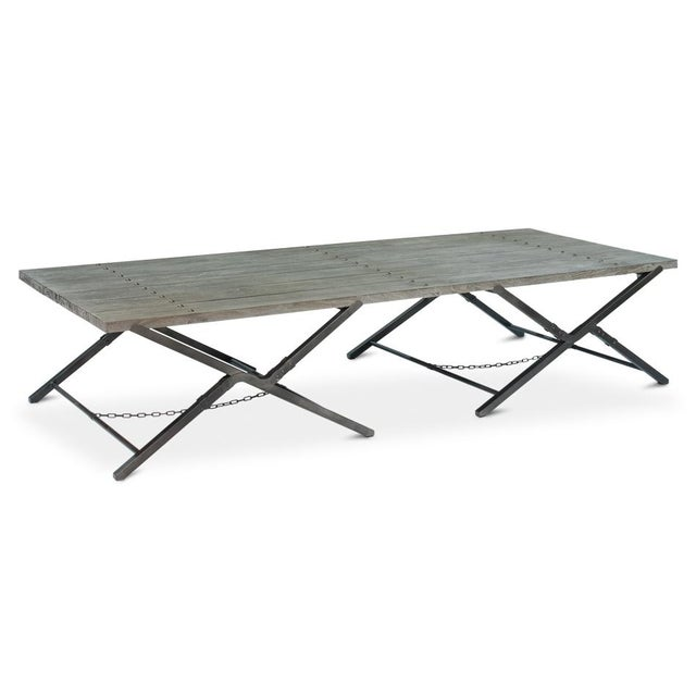 Sarreid Ltd Campaign Low Folding Table - Image 3 of 5