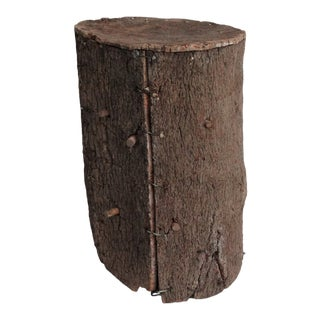 Spanish Cork Beehive Side Table For Sale
