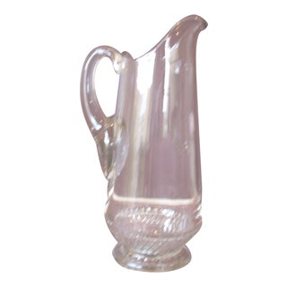 Vintage Italian Clear Glass Pitcher