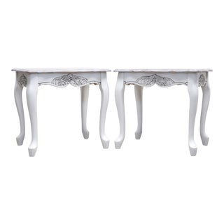 1990s French Provincial Style End Tables - a Pair For Sale