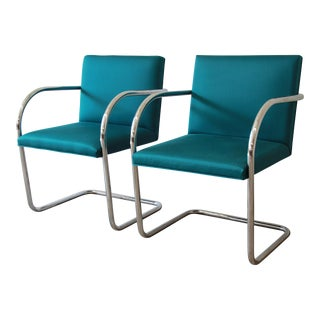 Mies van der Rohe for Knoll International Brno Chairs - A Pair