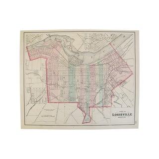 Antique Double-Sided Map of Louisville & Ohio