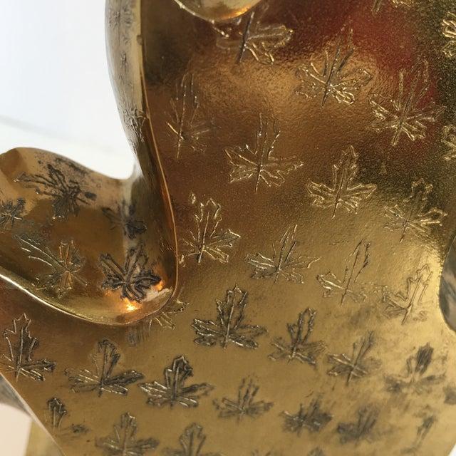 Vintage Brass Leaf Bookend - Image 9 of 9