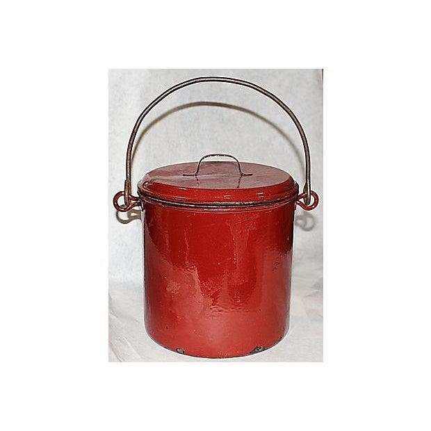 French Emanelware Lidded Pot & Pitcher - Image 3 of 7