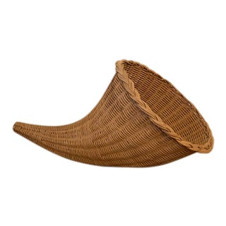 Wicker Cornucopia/Horn of Plenty For Sale