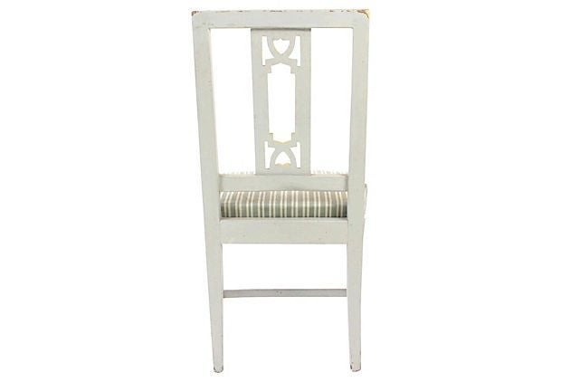 Gray Swedish Gustavian Dining Chairs   A Pair   Image 3 Of 4