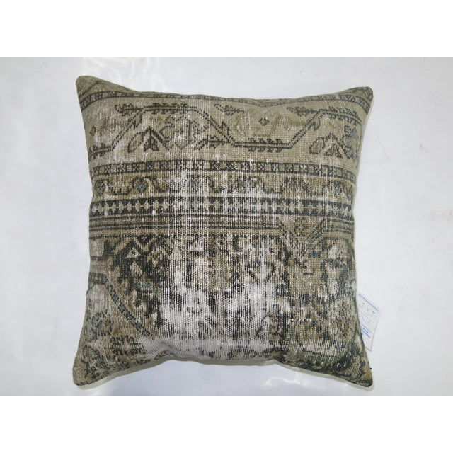 Vintage Distressed Persian Malayer Pillow - Image 2 of 3