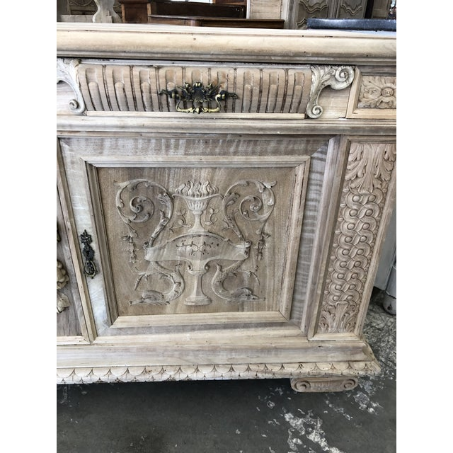 19th Century Italian Walnut Carved Buffet For Sale - Image 4 of 11