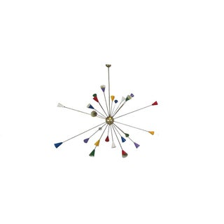 Twenty-Four-Arm Italian Sputnik Chandelier For Sale