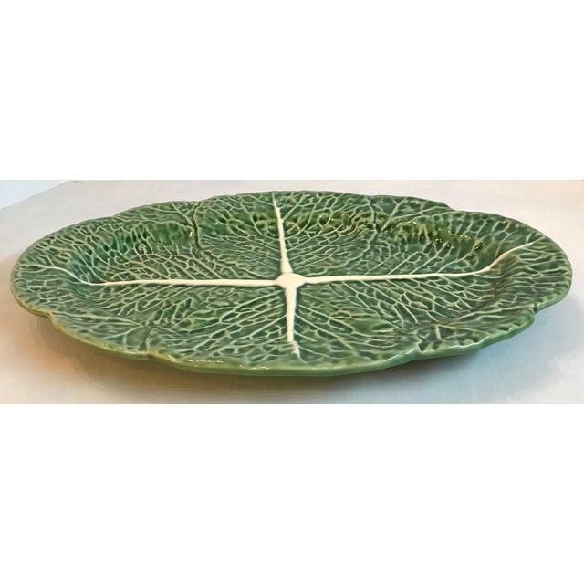 Mediterranean Vintage Majolica Cabbage Platter For Sale - Image 3 of 8