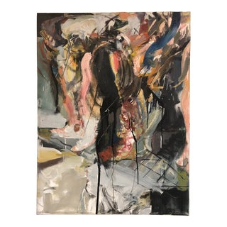Large Abstract Expressionist Painting by Robert Saltonstall