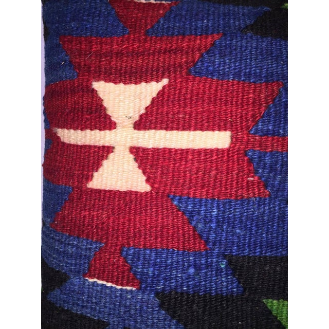 Blue, Red & Green Kilim Pillow Cover - Image 4 of 5