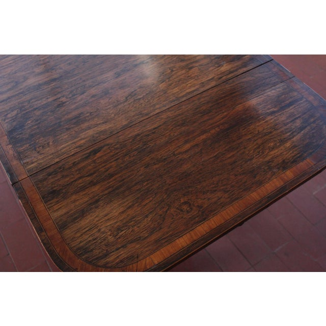 Wood Antique Victorian Rosewood Writer's Desk For Sale - Image 7 of 13