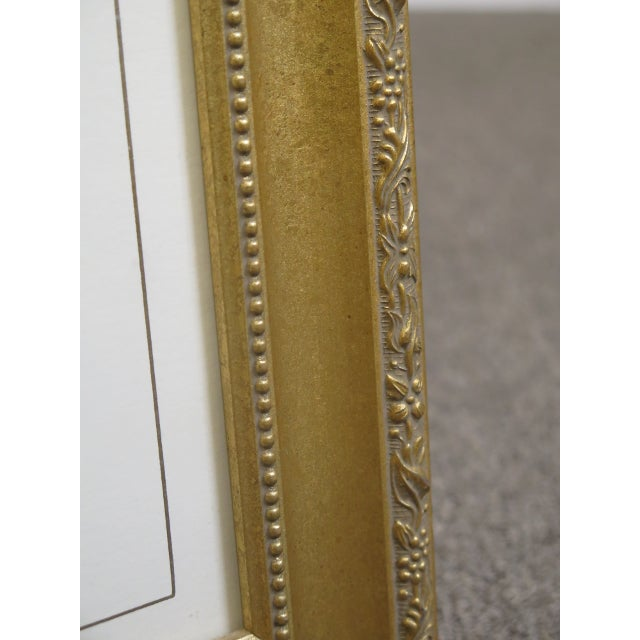 Traditional Gold Framed Signed Floral Prints - a Pair For Sale - Image 4 of 5