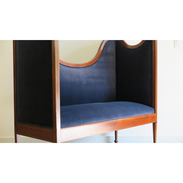 Sheraton Antique Sheraton Style Settee For Sale - Image 4 of 13