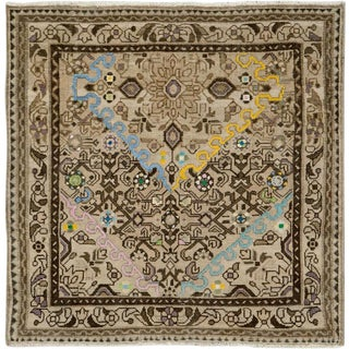 """Vintage Persian Malayer Rug – Size: 3' 4"""" X 3' 5"""" For Sale"""
