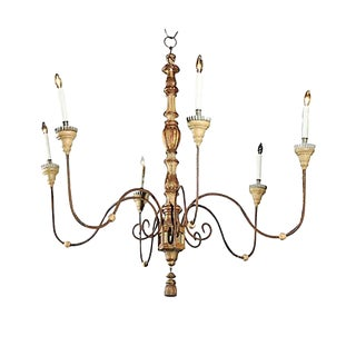 European 6-Light Chandelier For Sale