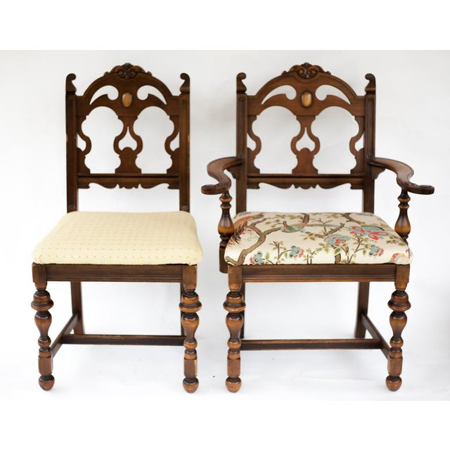 Vintage Wooden Dining Room Chairs - Set of 4 - Image 3 of 11