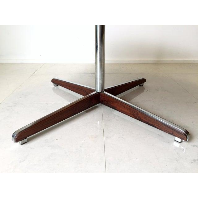 Danish Modern Rosewood Circular Coffee Table - Image 4 of 6