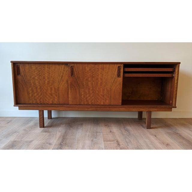 1960s 1960's Dyrlund Teak 3-Door Credenza/Sideboard For Sale - Image 5 of 13