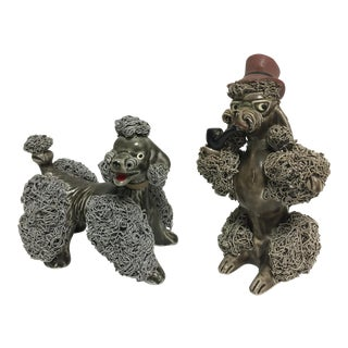 Vintage French Spaghetti Poodles - a Pair