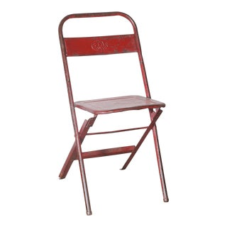 Vintage Iron Folding Chair For Sale