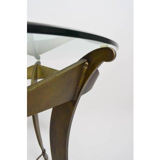 Cut Steel and Glass Brutalist Table Preview