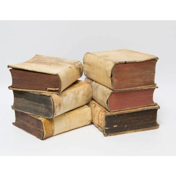 Italian 18th Century Vellum Books in a Collection of 6 Books For Sale - Image 3 of 5