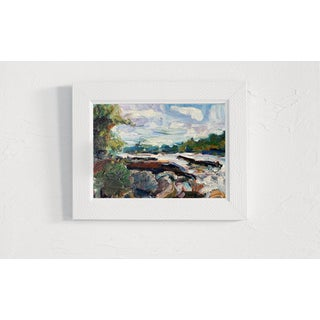 Abstract Expressionist Original Oil Painting by Rebecca Dvorak, James River Rapids Preview