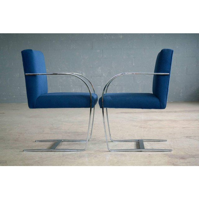 Pair of Brno Style Side Chairs in the Manner of Mies van der Rohe - Image 4 of 10