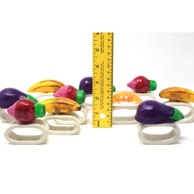 Ceramic Vintage Ceramic & Paper Mache Fruit and Vegetable Napkin Holders - Set of 10 For Sale - Image 7 of 9