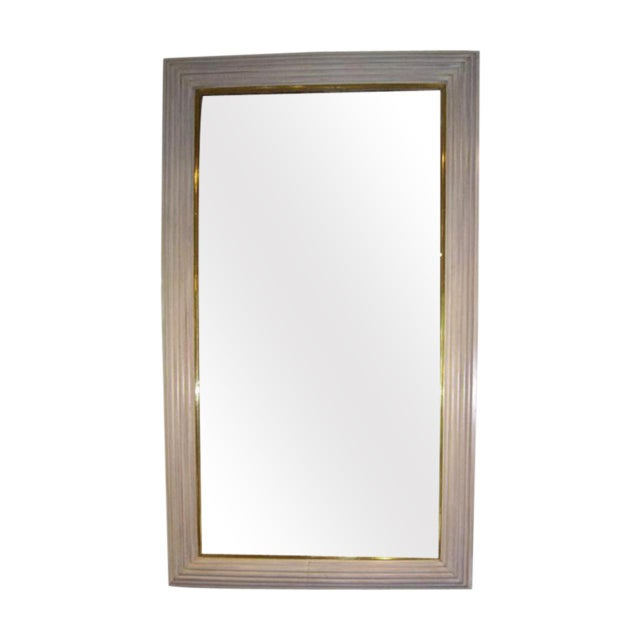 French Art Deco Moderne Mirror For Sale - Image 10 of 10