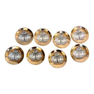 Fornasetti Roman Chariot Coasters - Set of 8 For Sale