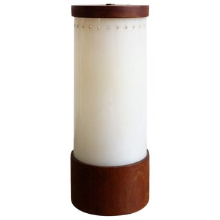 Bauhaus era perspex and teak table lamp - 1930's - Ipso Facto For Sale