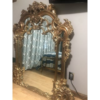 Vintage French Rococo Gold Gilt Mirror Preview