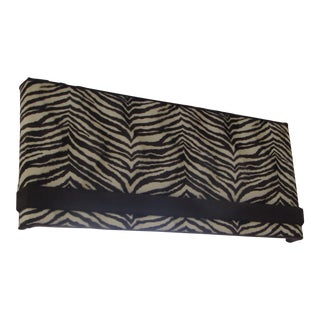 Zebra Pattern Fuzzy Cornices - a Pair For Sale