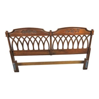 Mid 20th Century French Style Carved Kingsize Headboard For Sale