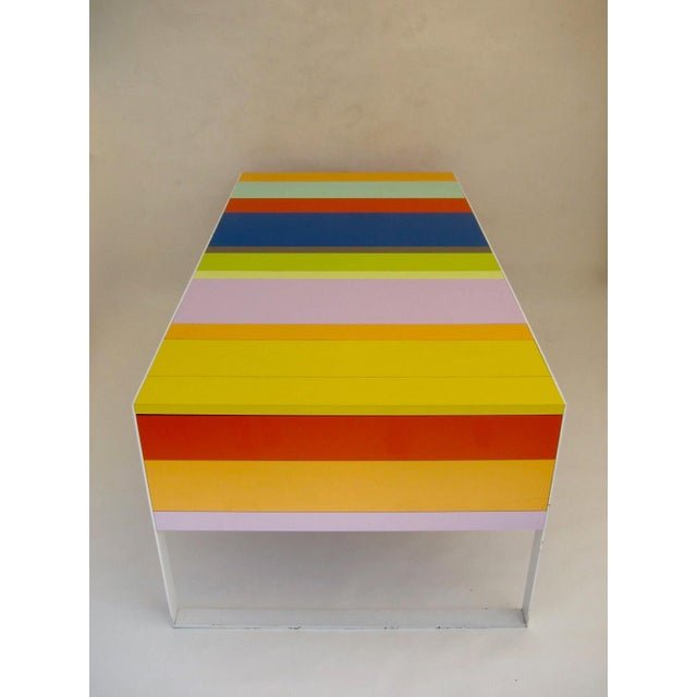 Memphis Modern Style Multi Color Table Desk For Sale - Image 4 of 7