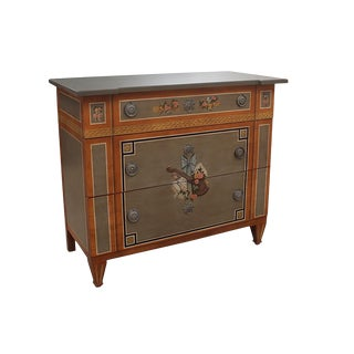 1970s Vintage Drexel Heritage Italian Style Hand Painted Chest of Drawers For Sale