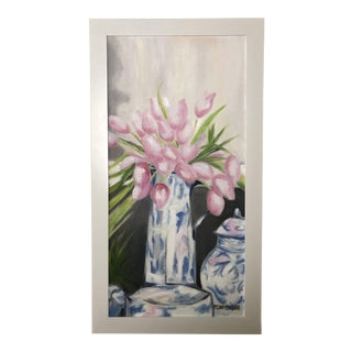 Chinoiserie Tulip Painting For Sale