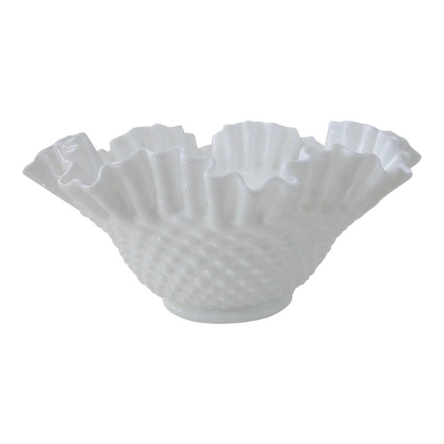 Vintage Milk Glass Hobnail Bowl - Image 1 of 6