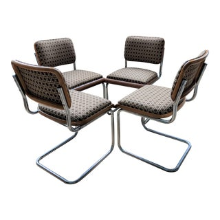 Vintage Cantilever Dining Chairs - Set of 4