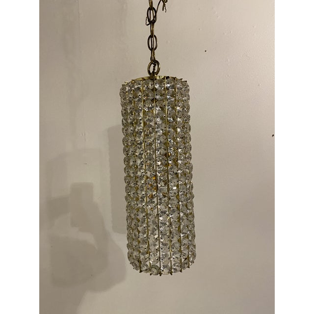 Mid-Century Crystals Light Fixtures - a Pair For Sale - Image 4 of 7