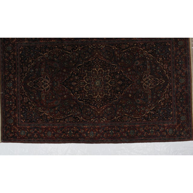 Persian 1920s Antique Persian Mohtasham Kashan Rug - 4′5″ × 7′ For Sale - Image 3 of 8
